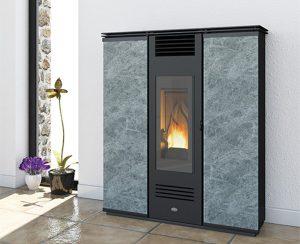 Le stufe a pellet slim, versione idro o ad aria, risolvono i problemi di spazio in ambienti stretti come i corridoi o le stanze più piccole