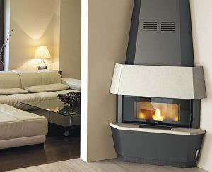 Le stufe a pellet angolari permettono di sfruttare ogni angolo della vostra abitazione