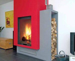 I Termocamini a legna su misura ad aria con altezza di oltre 1,5 metri possono riscaldare tutta la casa
