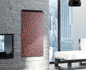 I radiatori elettrici a soffitto o a parete sono scelte di design disponibili anche in gres porcellanato