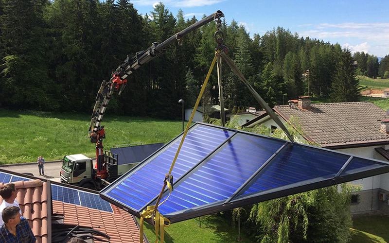 I Pannelli solari su misura permettono di sfruttare al meglio l'architettonica della casa
