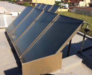I pannelli in acciaio inox dell'impianto solare non vengono corrosi dalla nebbia salina