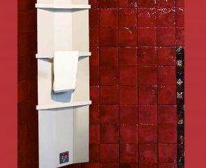 I radiatori elettrici a soffitto e gli scaldasalviette radianti possono essere installati anche in piccoli spazi